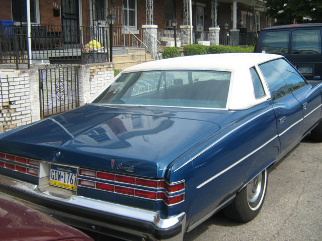 Seller Of Classic Cars 1976 Pontiac Bonneville Blue Blue