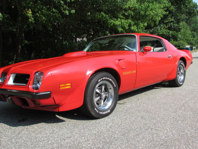 seller of classic cars 1974 pontiac trans am red white. Black Bedroom Furniture Sets. Home Design Ideas