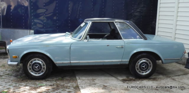 Seller of classic cars 1969 mercedes benz sl class blue for Mercedes benz private sellers