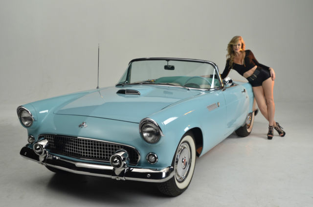 seller of classic cars 1955 ford thunderbird blue blue white green. Black Bedroom Furniture Sets. Home Design Ideas