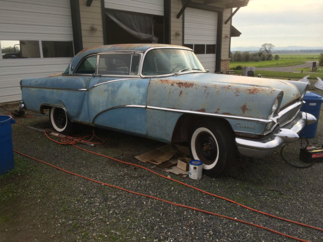 1955 Packard Clipper Custom (Blue/teal two tone/Blue/ white)
