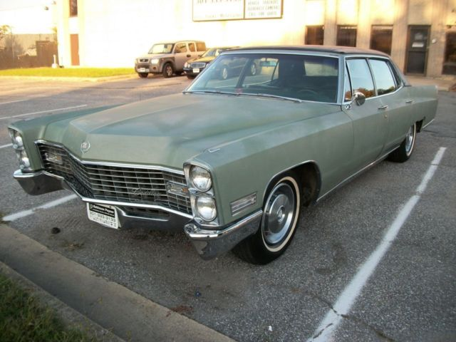 1967 Cadillac Fleetwood (Green/Green Leather)