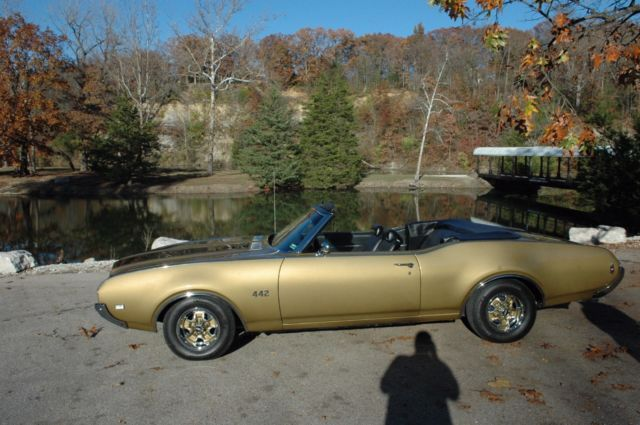 1969 Oldsmobile 442 (Gold/Black)