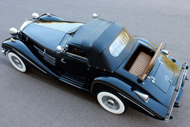 1936 Replica/Kit Makes Mercedes Benz 500K 540K (Black/Tan)