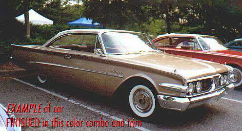 1960 Edsel Ranger (Alaskan Gold Polar White/Gold Vinyl Brown Pebblecloth)