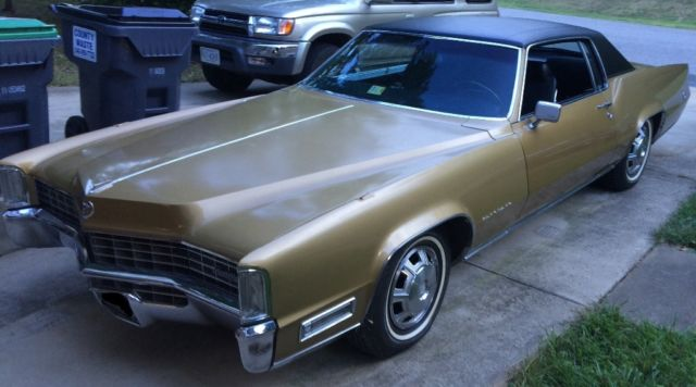 Seller of Classic Cars - 1968 Cadillac Eldorado (Gold/Black)
