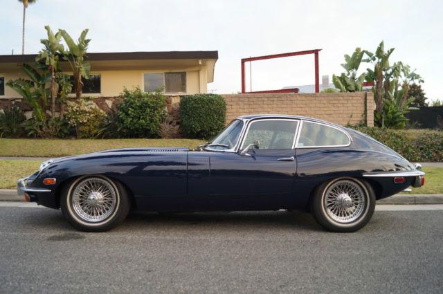 1970 Jaguar E Type Dark Blue
