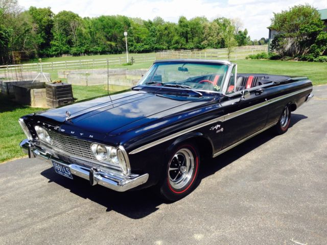 1963 Plymouth Fury (Black/Black with Red Accents)