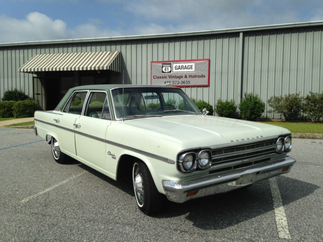 1966 AMC Rambler Classic (Light Yellow with Green/Green)