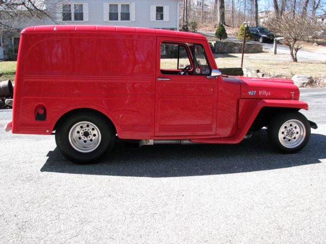 1962 Willys Panel Delivery (Red/Red)