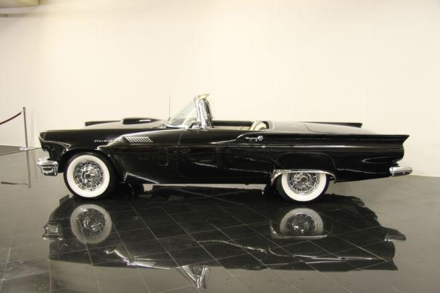 Seller Of Classic Cars 1957 Ford Thunderbird Raven Black Black White