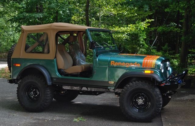 seller of classic cars 1979 jeep renegade loden forest green spice. Black Bedroom Furniture Sets. Home Design Ideas