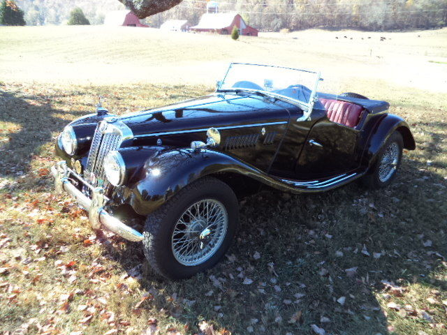 1954 MG T-Series (BLACK/RED LEATHER)