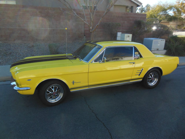 Seller Of Classic Cars 1966 Ford Mustang Yellow Black