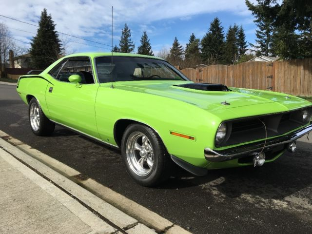 1970 Plymouth Barracuda (Sublime green/Black)