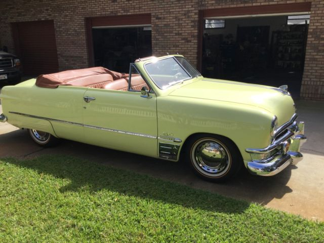 1950 Ford Convertible RestoMod (Yellow basecoat/clearcoat PPG/Spice Tan leather)