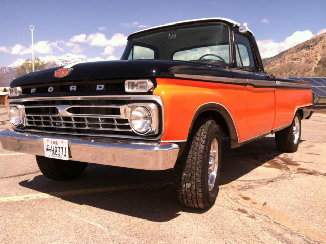 1966 Ford F-250 (Rally Red With Black Racing Stripes/Black)