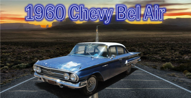 1960 Chevrolet Bel Air/150/210 (Blue with white top/Blue)