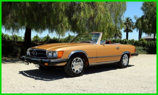 1974 Mercedes-Benz SL-Class (Gold/Brown)