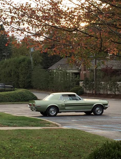 1968 Mustang Lime Gold