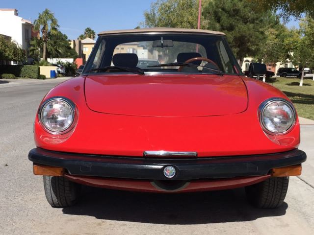 1979 Alfa Romeo Spider (Red/Brown)