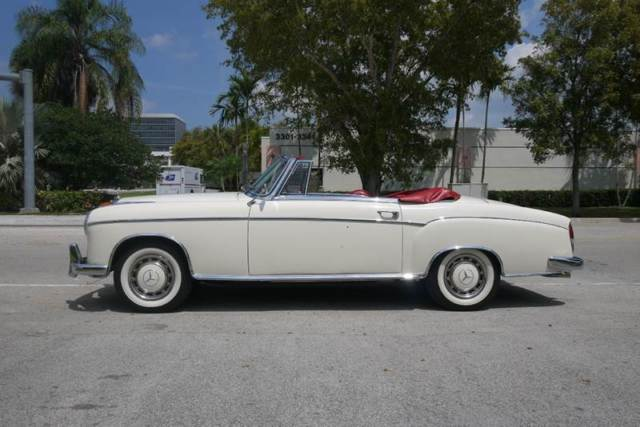 1959 Mercedes-Benz 200-Series (White/Red)