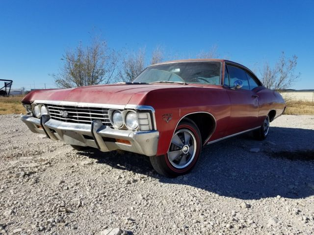 1967 Chevrolet Impala (RED ORIGINAL GM PAINT/WHITE ORIGINAL)