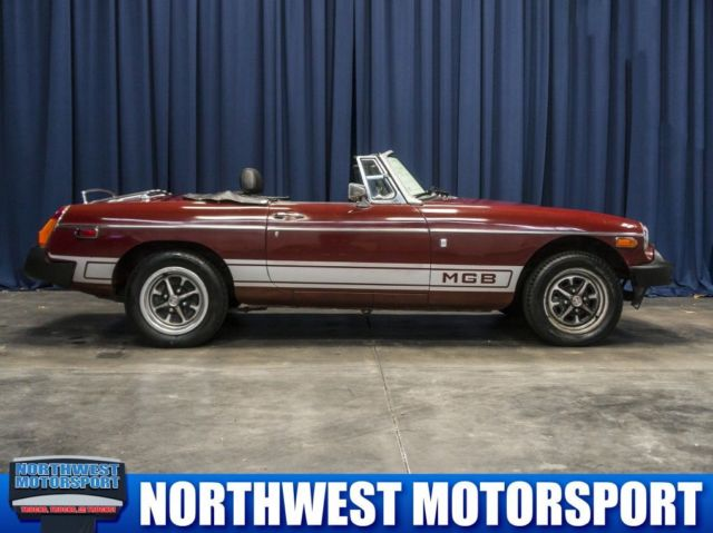 1977 MG MGB (Burgundy/Black)