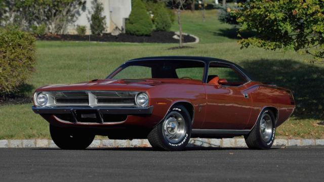 1970 Plymouth Barracuda (FK5 Original Burnt Orange/ORIGINAL Rare Burnt Orange/Blck Plaid)