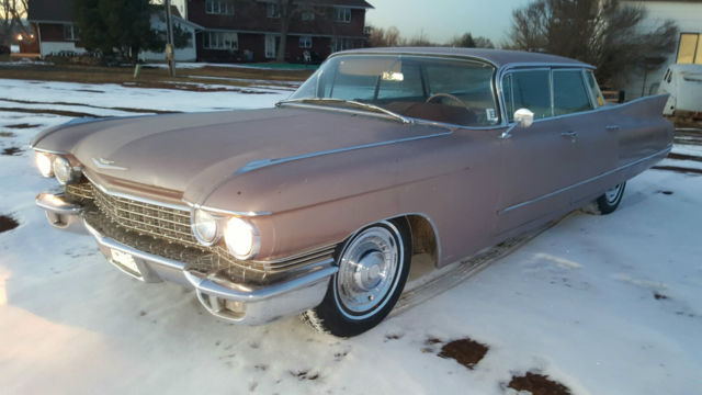 1960 Cadillac DeVille (Midnight Rose repainted/rose)