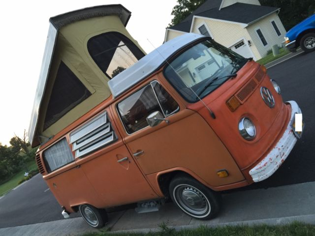 1974 Volkswagen Bus/Vanagon (Orange/Orange Plaid)