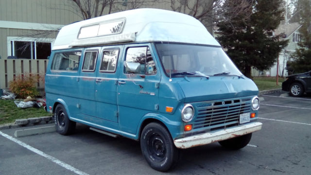1969 Ford E-Series Van (Blue/Blue)
