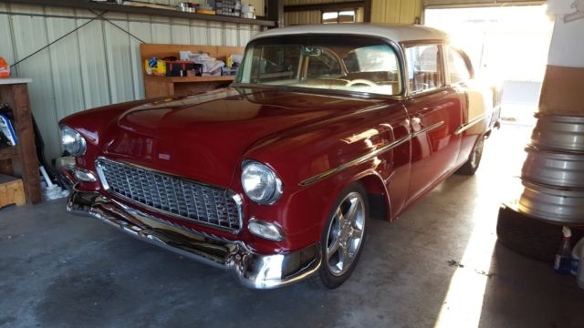 1955 Chevrolet Bel Air/150/210 (Red and Cream/Brown Leather)