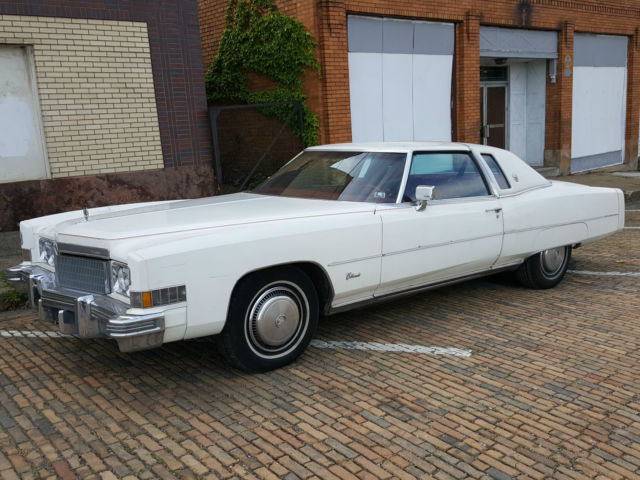 1974 Cadillac Eldorado (White/Red)