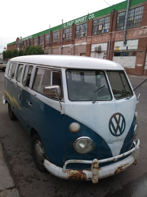1966 Volkswagen Bus/Vanagon (blue-white/white-gray)