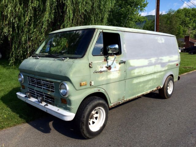 1971 Ford E-Series Van (Green/Green)