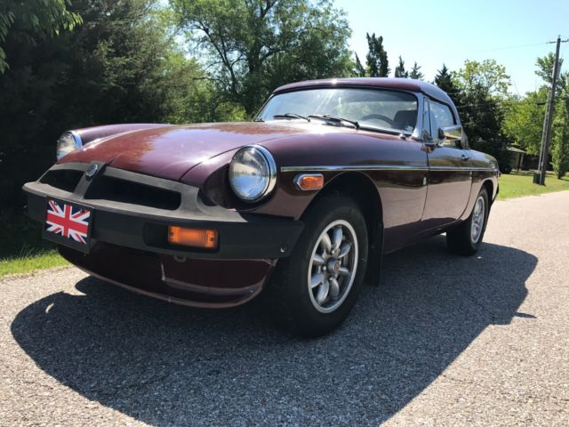 1978 MG MGB (Burgundy/Gray)