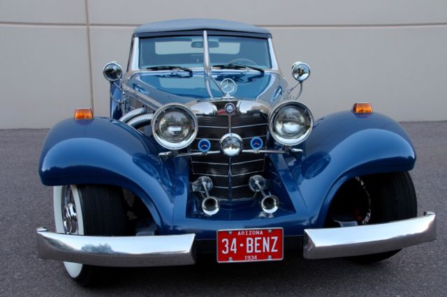 1934 Replica/Kit Makes Mercedes Benz 500K 540 K (Blue/Gray)