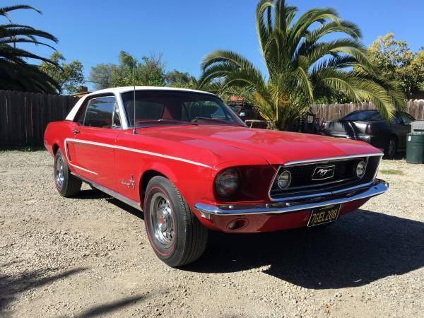 1968 Ford Mustang (Red/Red)