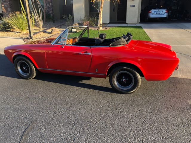 1978 Fiat 124 Spider (Red/Black)