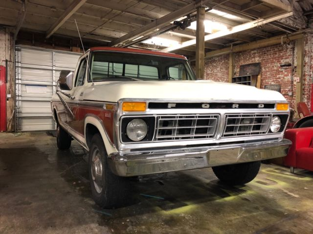 1977 Ford F-350 (Copper / White Two Tone/Tan)