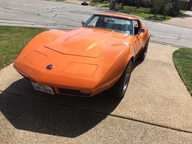 1973 Chevrolet Corvette (Orange/Tan)