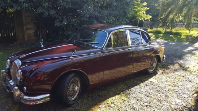 1964 Jaguar Daimler 2.5 V8 (Burgundy/Tan)