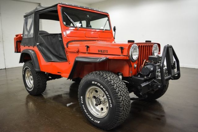 1947 Willys CJ2A Jeep (Red/Black)
