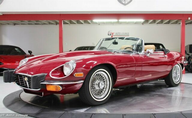 1973 Jaguar E-Type (Burgundy/Tan)
