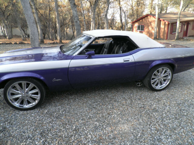 1973 Mercury Cougar (plum crazy/silver/black/siver)