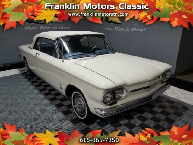 1963 Chevrolet Corvair (White/Blue)