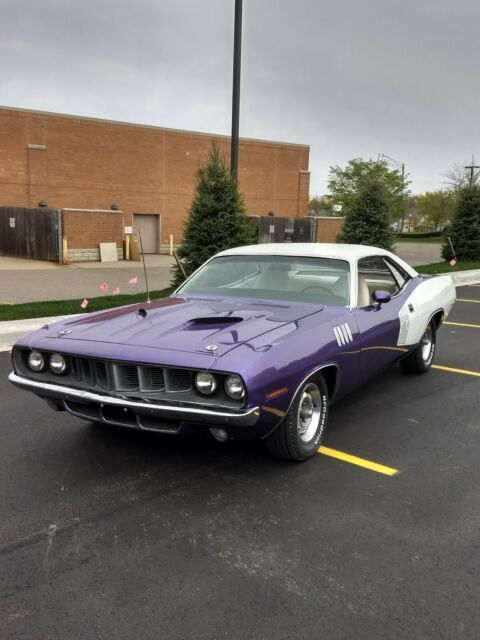 Seller of Classic Cars - 1971 Plymouth Barracuda (Purple/White)