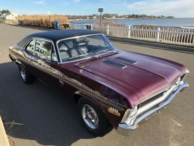 1971 Chevrolet Nova (Burgundy/Black)