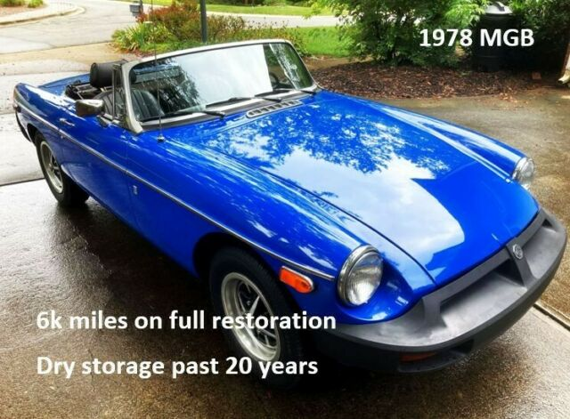 1978 MG MGB (Blue/Black)